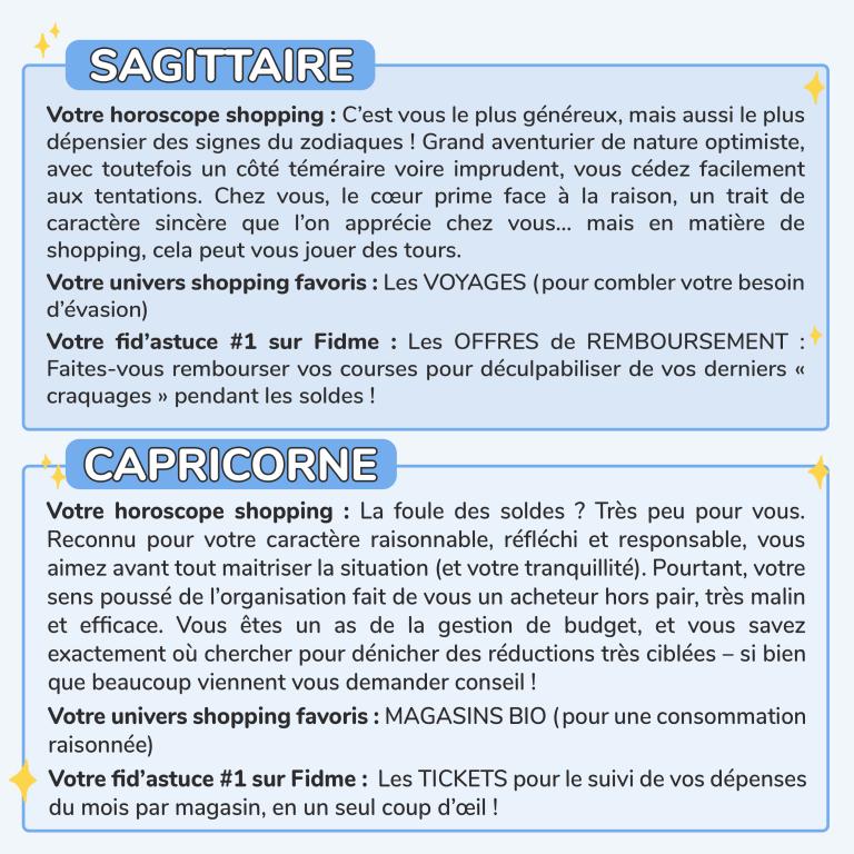 5HOROSCOPE SHOPPING FIDME_SAGITTAIRE_CAPRICORNE
