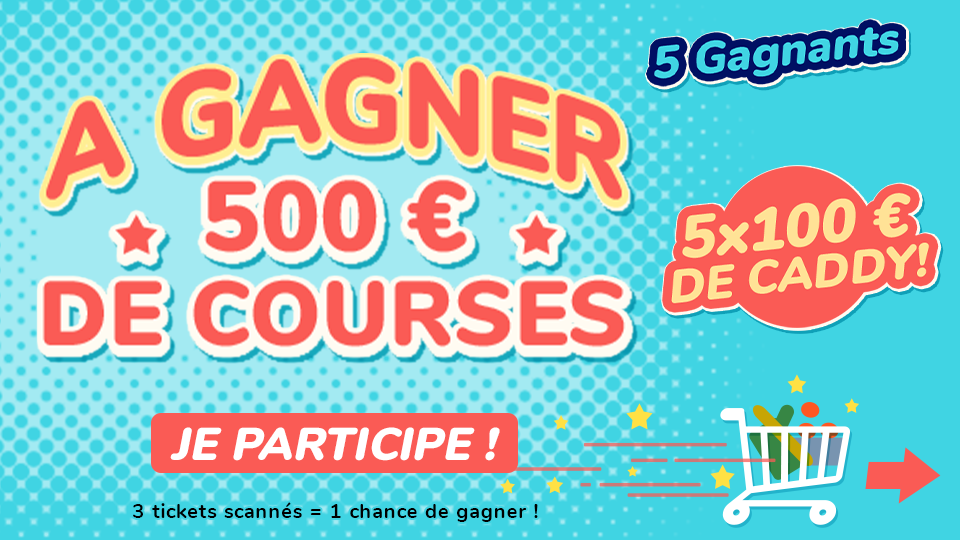 Jeu Concours 500€ de COURSES Fidme